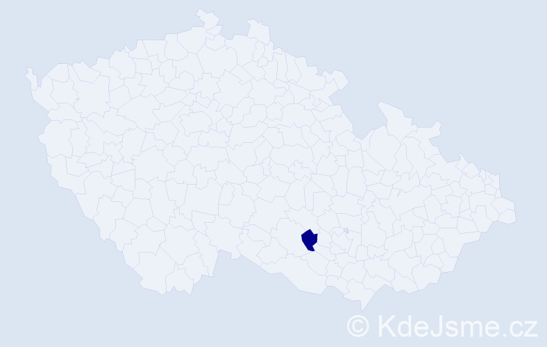Příjmení: 'Baksay', počet výskytů 1 v celé ČR