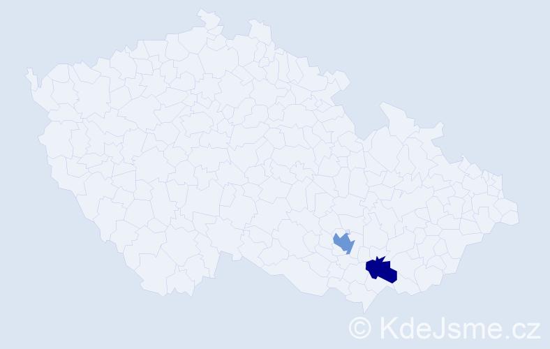 Příjmení: 'Janusicza', počet výskytů 5 v celé ČR