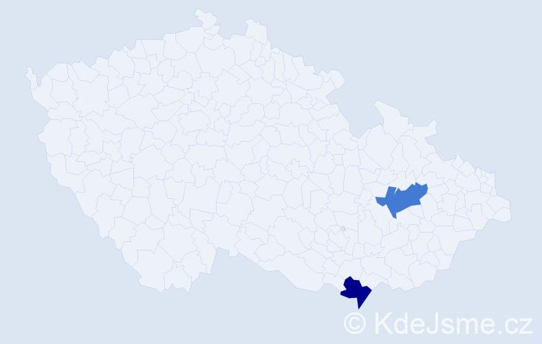 Příjmení: 'Hnáth', počet výskytů 2 v celé ČR