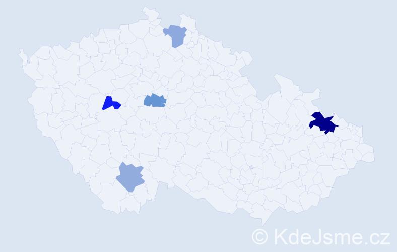 Příjmení: 'Gebrianová', počet výskytů 8 v celé ČR