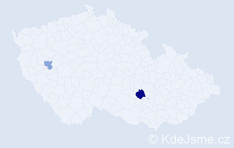 Příjmení: 'Jurčuk', počet výskytů 4 v celé ČR