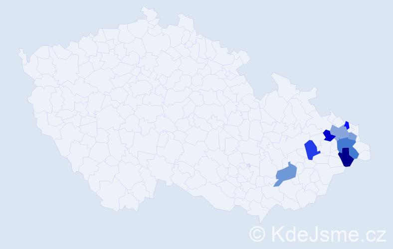 Příjmení: 'Brantol', počet výskytů 10 v celé ČR