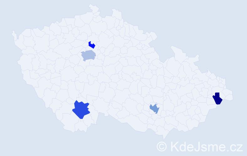 Příjmení: 'Ilićová', počet výskytů 12 v celé ČR