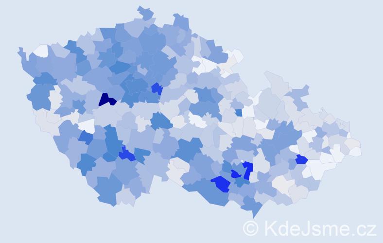 Příjmení: 'Hrdličková', počet výskytů 3324 v celé ČR