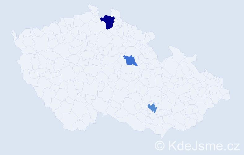 Příjmení: 'Mächler', počet výskytů 5 v celé ČR