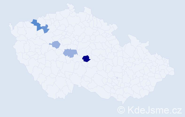 Příjmení: 'Kritzner', počet výskytů 7 v celé ČR