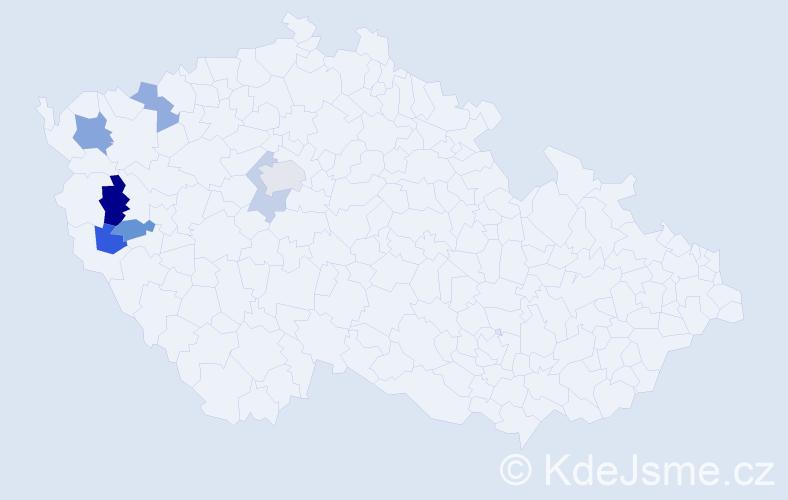 Příjmení: 'Hösl', počet výskytů 10 v celé ČR