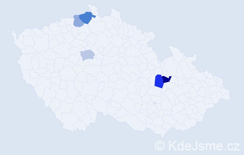 Příjmení: 'Fuentesová', počet výskytů 9 v celé ČR