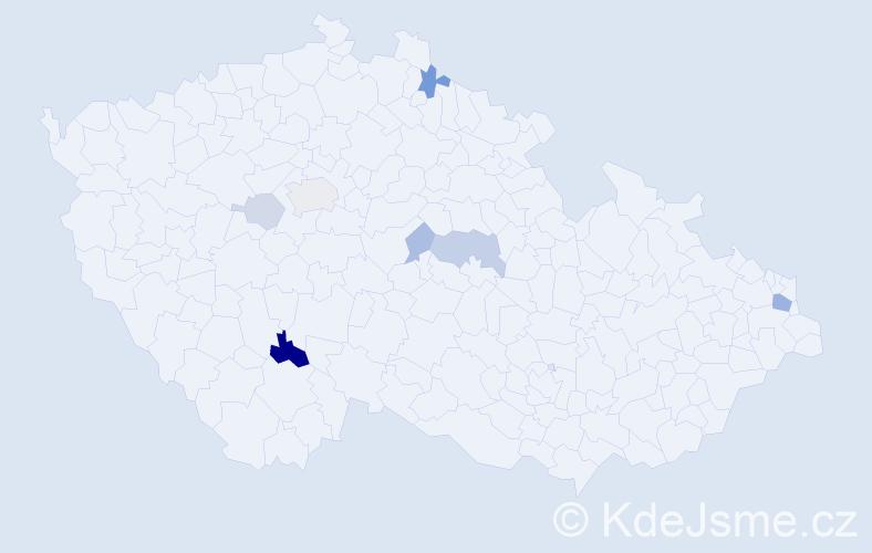 Příjmení: 'Ďuriačová', počet výskytů 17 v celé ČR