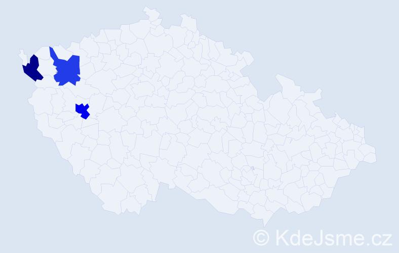 Příjmení: 'Kopplerová', počet výskytů 4 v celé ČR