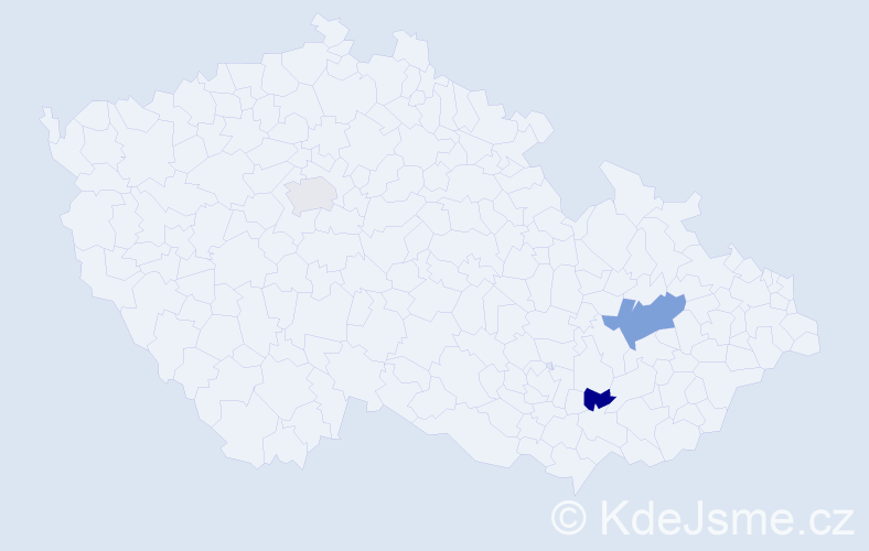 Příjmení: 'Bambergerová', počet výskytů 4 v celé ČR