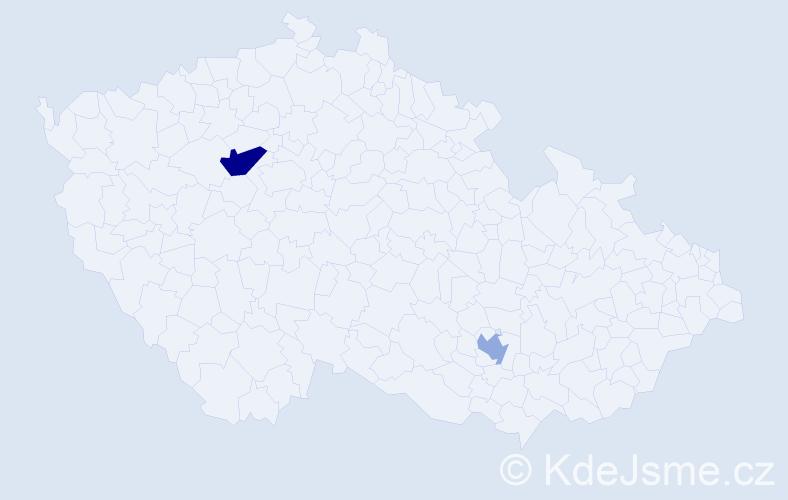 Příjmení: 'Gerylov', počet výskytů 3 v celé ČR