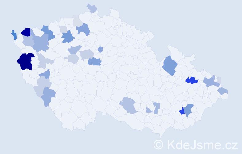 Příjmení: 'Donoval', počet výskytů 90 v celé ČR