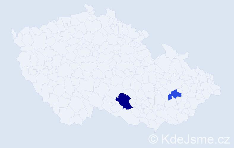 Příjmení: 'Concepción', počet výskytů 5 v celé ČR