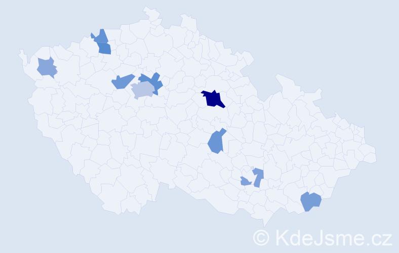 Příjmení: 'Englich', počet výskytů 22 v celé ČR