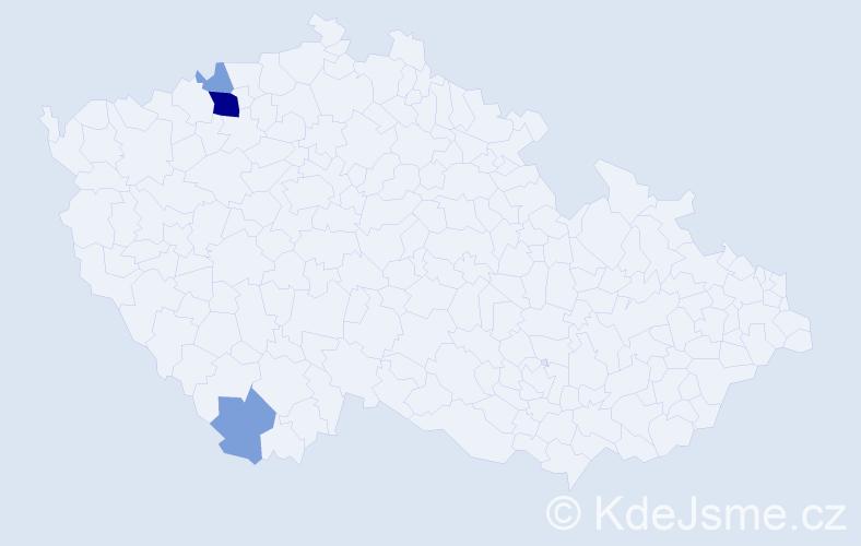 Příjmení: 'Janš', počet výskytů 8 v celé ČR
