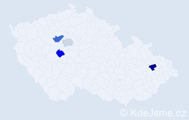 Příjmení: 'Barninec', počet výskytů 8 v celé ČR