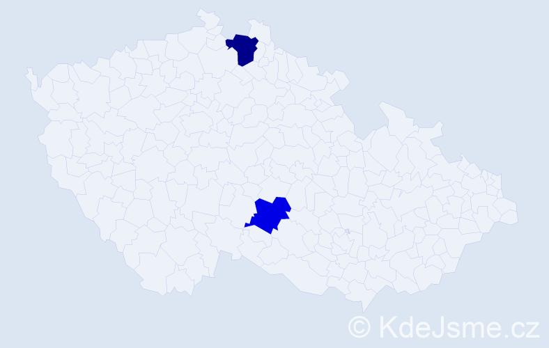 Příjmení: 'Bojsak', počet výskytů 5 v celé ČR