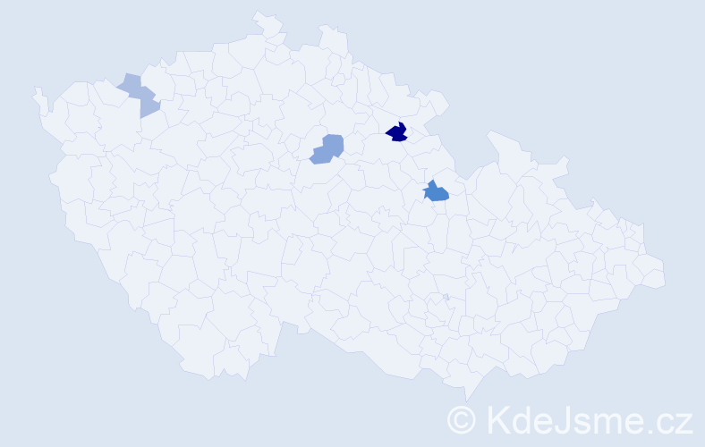 Příjmení: 'Čibčalová', počet výskytů 7 v celé ČR