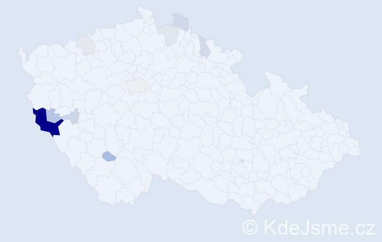 Příjmení: 'Fainová', počet výskytů 34 v celé ČR
