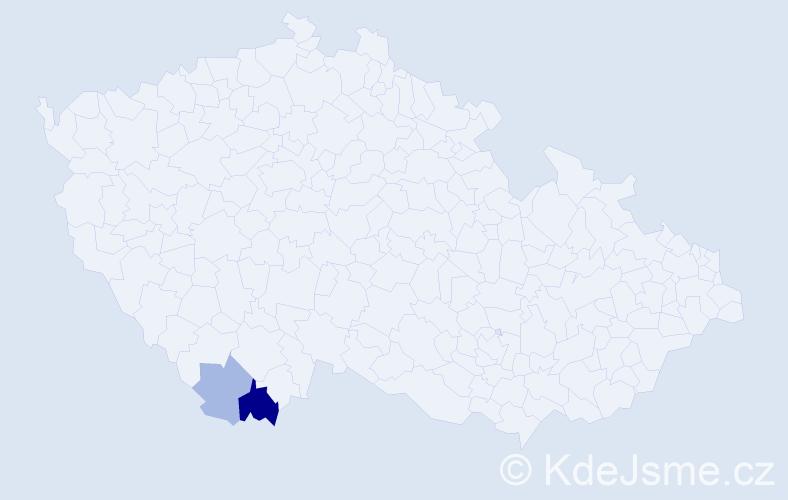 Příjmení: 'Cenzovová', počet výskytů 4 v celé ČR