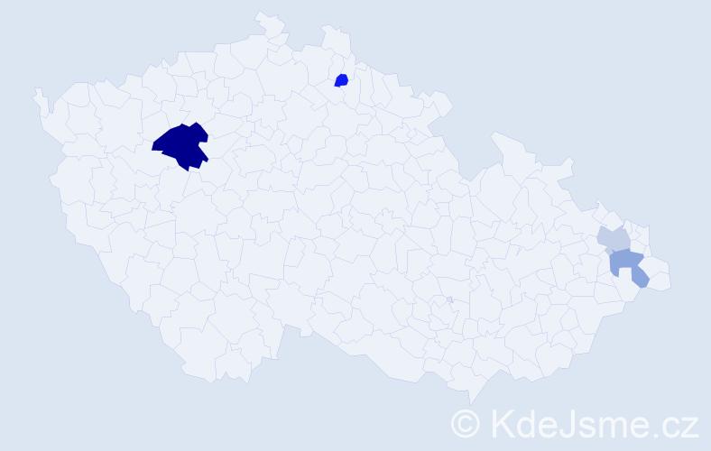 Příjmení: 'Gellrichová', počet výskytů 11 v celé ČR