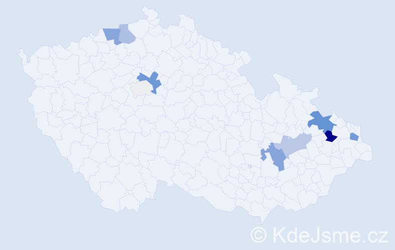 Příjmení: 'Jaške', počet výskytů 28 v celé ČR