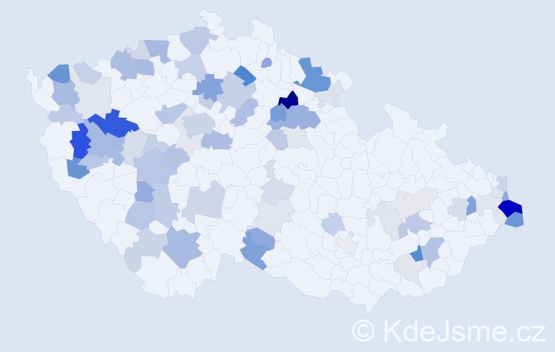 Příjmení: 'Ernstová', počet výskytů 196 v celé ČR