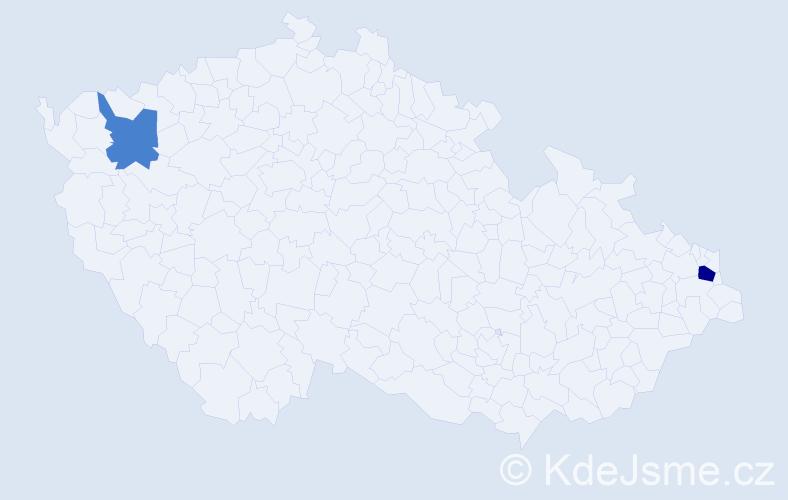 Příjmení: 'Macula', počet výskytů 3 v celé ČR