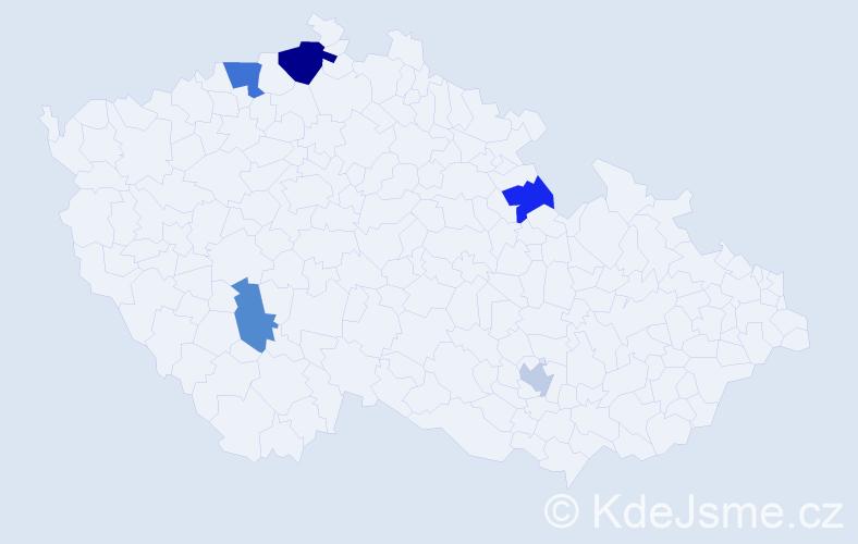 Příjmení: 'Dikoš', počet výskytů 8 v celé ČR