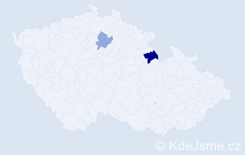 Příjmení: 'Lepeško', počet výskytů 3 v celé ČR