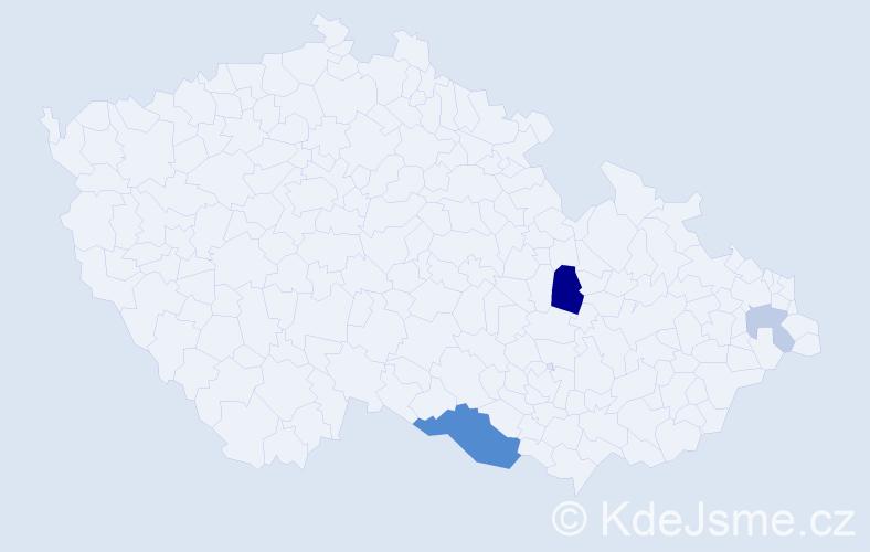 Příjmení: 'Kelo', počet výskytů 8 v celé ČR