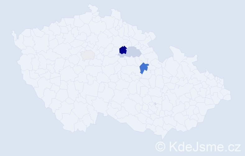 Příjmení: 'Klzo', počet výskytů 6 v celé ČR