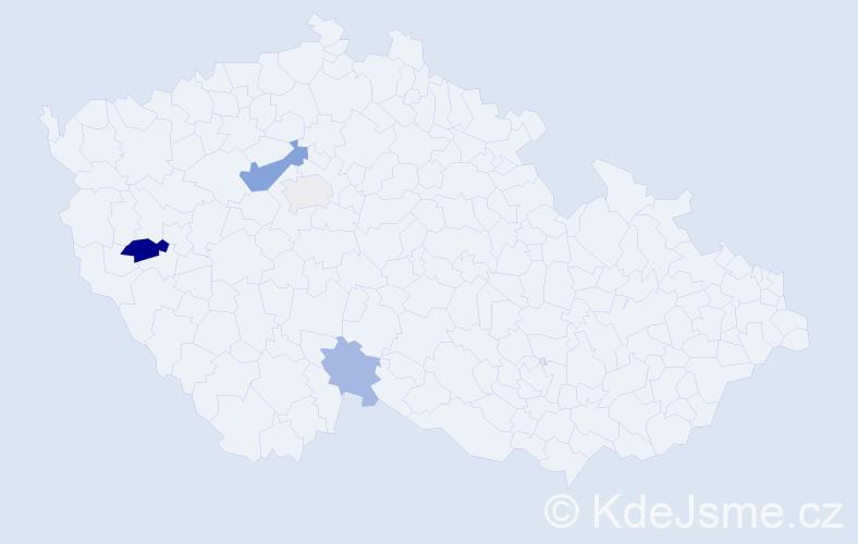 Příjmení: 'Horlivý', počet výskytů 9 v celé ČR