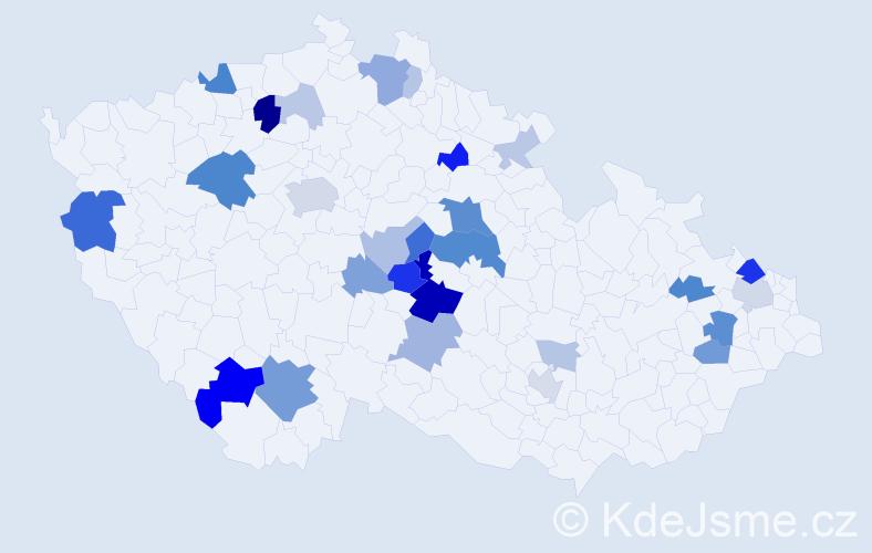 Příjmení: 'Bolech', počet výskytů 78 v celé ČR