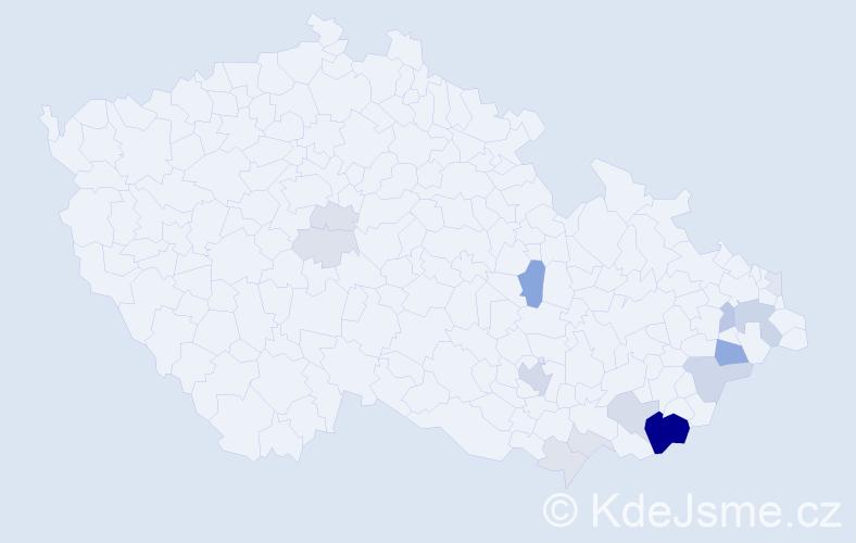 Příjmení: 'Cmol', počet výskytů 49 v celé ČR