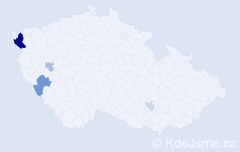 Příjmení: 'Búci', počet výskytů 6 v celé ČR