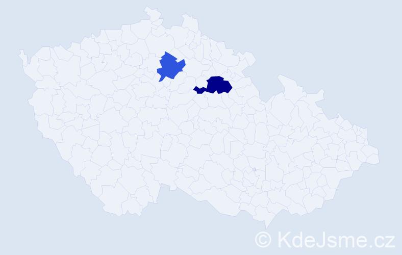 Příjmení: 'Konovalenko', počet výskytů 3 v celé ČR