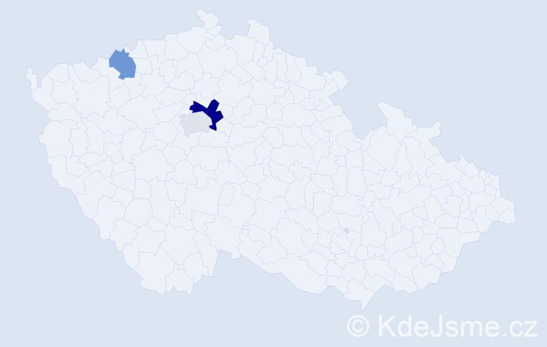 Příjmení: 'Kašubjak', počet výskytů 5 v celé ČR