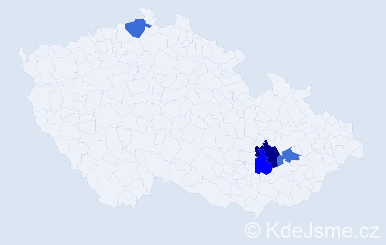 Příjmení: 'Frölich', počet výskytů 5 v celé ČR