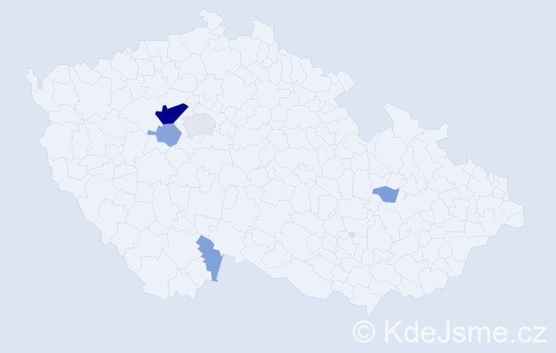 Příjmení: 'Lážnovská', počet výskytů 21 v celé ČR