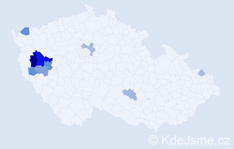 Příjmení: 'Englmaier', počet výskytů 28 v celé ČR