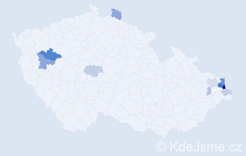 Příjmení: 'Barchanská', počet výskytů 28 v celé ČR