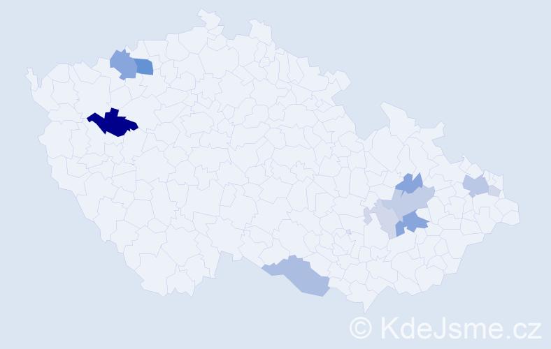 Příjmení: 'Jurinec', počet výskytů 26 v celé ČR
