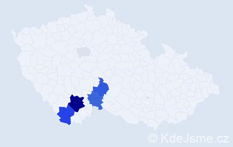 Příjmení: 'Čenkovicová', počet výskytů 8 v celé ČR
