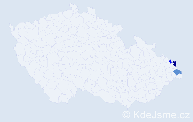 Příjmení: 'Lalurny', počet výskytů 5 v celé ČR
