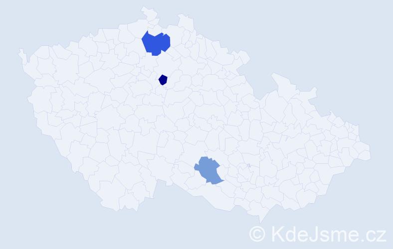 Příjmení: 'Jablanovská', počet výskytů 4 v celé ČR