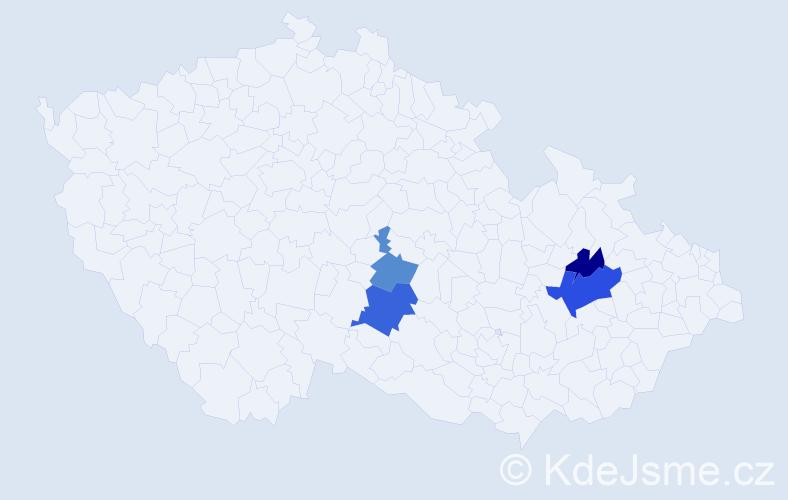 Příjmení: 'Flornerová', počet výskytů 7 v celé ČR