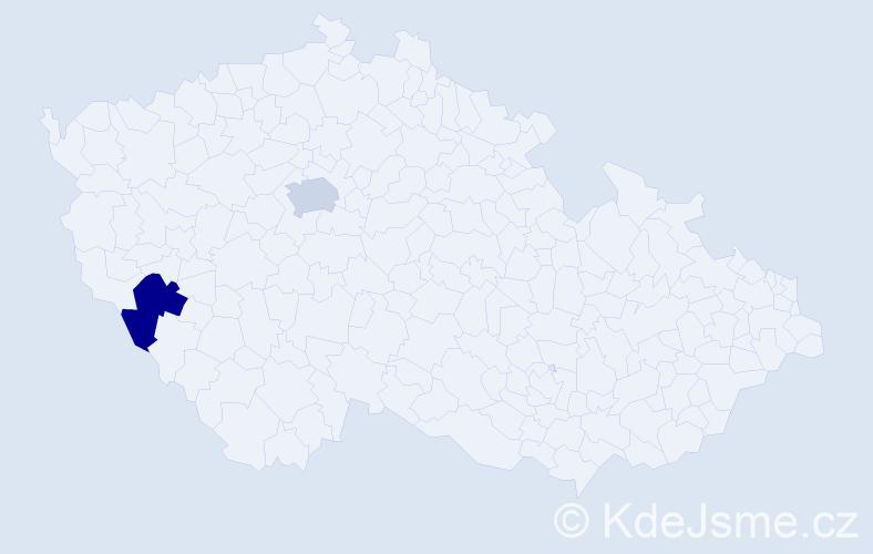 Příjmení: 'Dobler', počet výskytů 2 v celé ČR