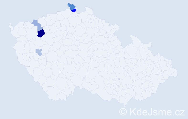 Příjmení: 'Čambalík', počet výskytů 9 v celé ČR